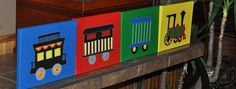 Train set by cricflix on Etsy, $80.00
