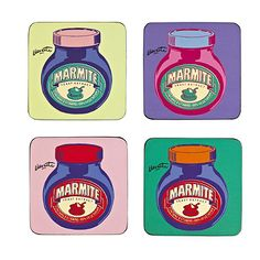 4 Marmite Coasters - From Lakeland