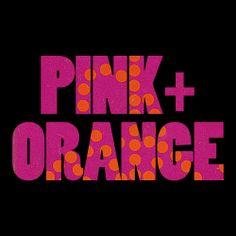 board cover   pink + orange