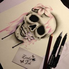 Skull Pink Purple Sweet Decay
