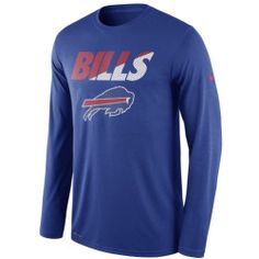 Men's Buffalo Bills Nike Royal Legend Staff Practice Long Sleeve Performance T-Shirt