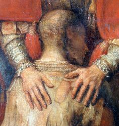 Rembrandt - The Return of the Prodigal Son , (detail), 1662