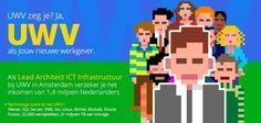 UWV zeg je? Ja, UWV als jouw nieuwe werkgever. Waar anders kun je het inkomen verzekeren van 1,4 miljoen Nederlanders bij wie het even tegenzit? En tegelijkertijd met meer dan 400 kantoorapplicaties en meer dan 20 miljoen websitebezoekers per kwartaal stoeien? Nou? https://www.epeople.nl/web/lead-architect-ict-infrastructuur-uwv-amsterdam/?utm_source=pinterest&utm_medium=vacature&utm_campaign=uwv