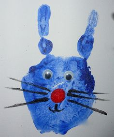 Hand Print Animals: Rabbit
