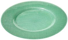 "Villeroy & Boch Verona 13 1/2"" charger, green by Villeroy & Boch. Save 35 Off!. $28.59. made in Italy. fused glass. hand wash. clear. 13 1/2"" diameter. versatile, 13 1/2""  glass color fused chargers. Smooth front and textured back."