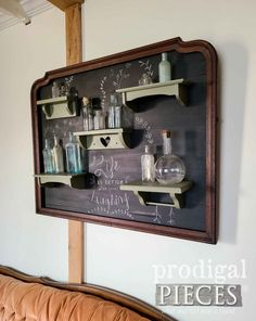 DIY Mirror Frame Wall Art by Larissa of Prodigal Pieces | prodigalpieces.com #prodigalpieces #diy #home #vintage #wallart Diy Mirror, Dresser With Mirror, Chalkboard Paint, Canister Sets, Typography Art, Furniture Makeover, Diy Tutorial, Framed Wall Art, Upcycle