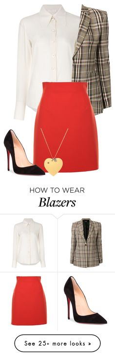 """heather chandler"" by eemotions on Polyvore featuring Chloé, Theory, MSGM, Christian Louboutin and Tory Burch"