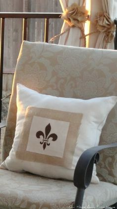 Our Home Away From Home: CHANGING THE LOOK OF MY DROP CLOTH PILLOWS
