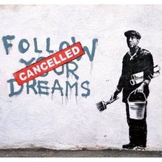Banksy is a pseudonymous United Kingdom-based graffiti artist, political activist, film director, and painter. His satirical street art and subversive epigrams combine dark humour with graffiti executed in a distinctive stencilling technique Art Gallery, Banksy, Art Photography, Photo Art, Public Art, Dreaming Of You, Art, Street Art Banksy, Graffiti Drawing