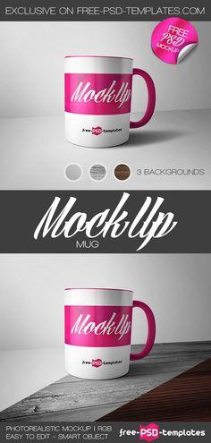 Free Mug Mockup (37.1 MB) | free-psd-templates.com | #free #photoshop #mockup