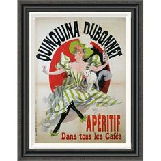 Global Gallery 'Quinquina Dubonnet' by Jules Cheret Framed Vintage Advertisement Size:
