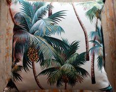retro monstera leaf lumber cushion cover by homeworksdesignstore