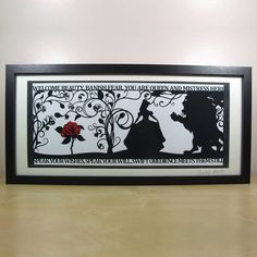 the beauty of a beast signed papercut print by studio charley | notonthehighstreet.com
