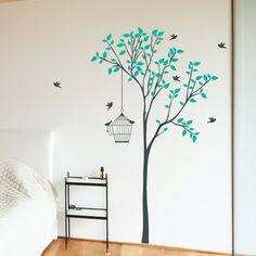 Tree-With-Birdcage-Wall-Sticker_large.jpg (480×480)