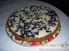 Пирог черника фото