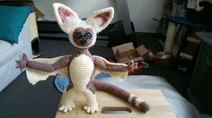 Momo crochet pattern - could do felt for wings/brown parts - Avatar