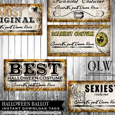 halloween entry ballots for your halloween by oddlotemporium halloween - Halloween Party Rules