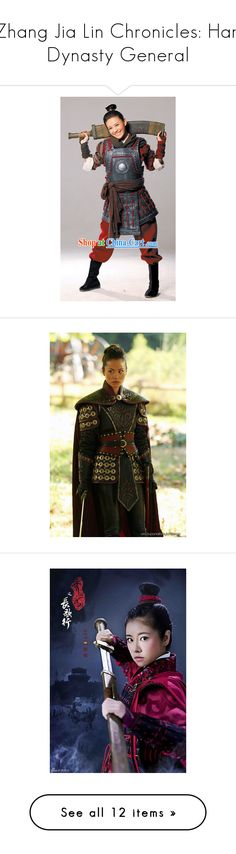"""""""Zhang Jia Lin Chronicles: Han Dynasty General"""" by liujiaxie ❤ liked on Polyvore featuring costumes, dresses, gowns, kimono, asian, dolls, doll dress, baby doll dress, babydoll dress and kimono dress"""