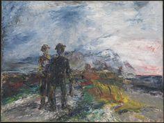 Artwork page for 'Two Travellers', Jack Butler Yeats, 1942 Irish Painters, Jack B, Tiny Horses, Irish Landscape, Irish Culture, Writers And Poets, Irish Art, Art Plastique, Sherlock Holmes