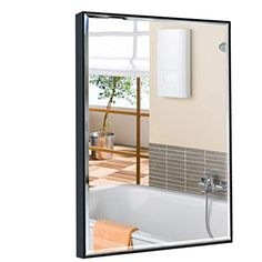 Amazon Must Haves 2020 - SIMPLE AND CLASSICAL black mirror is an eye-catching decor piece and fits all room - - #bathroom #Black #classic #Mirror #simple #vanity #lowcountry #AmazonFinds Vanity Wall Mirror, Wall Mirrors, Bedroom Makeup Vanity, Home Decor Mirrors, Wall Decor, Amazon Home Decor, Warm Home Decor, Shattered Glass, Black Mirror