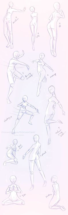 How to Draw the Human Body - Study: Female Poses for Comic / Manga Character Reference: