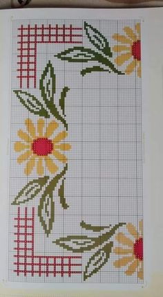 Beautiful little embroidered floral tablecloth 6 Cross Stitch Tree, Cross Stitch Borders, Cross Stitch Flowers, Cross Stitch Designs, Cross Stitching, Cross Stitch Embroidery, Embroidery Patterns, Hand Embroidery, Cross Stitch Patterns