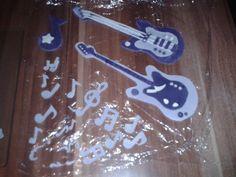 meine Musik Noten & Instrumente aus Fondant