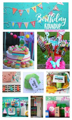 birthday fun roundup- lots of great ideas that make your birthday over the top--a girl and a glue gun