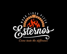 Wood fired pizza logo | 99designs