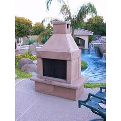 Mirage Stone See-Through Outdoor Fireplace with Gas Log Kit ...