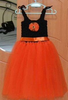 crochet kids tutu/crochet baby tutu dress/ crochet toddler tutu dress/kids orange tutu for one year to four year old kdis
