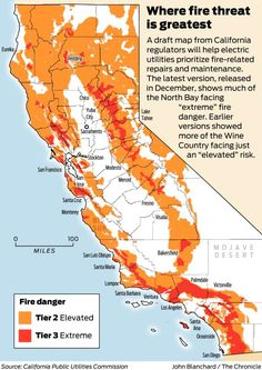 California utility regulators on Friday finally approved a statewide map, years in development, designed to help prevent power lines from starting wildfires.                   The detailed map, which shows the risk of utility-related fires in different parts of the state, will govern how electric companies maintain their equipment in the field. Stricter regulations — on inspection schedules and tree-trimming around power lines — will apply in areas facing an elevated or extreme risk of…