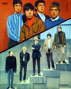 The Who - The Yardbirds - Rave - January, 1966 The Who Band, 1960s Mod Fashion, The Yardbirds, Jeff Beck, Uk Music, R&b Soul, Great Bands, Classic Rock, Reggae
