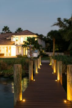 Trex Transcend decking in Spiced Rum and Trex Deck Lighting were used on the dock of the @hgtv Dream Home 2016. Follow the link to enter for the chance to win this beautiful house! #HGTVDreamHome #compositedecking #outdoorliving #backyard #deck #patio #porch