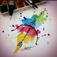 Sagittarius - watercolor