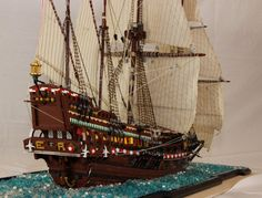 [pid][/pid] 155B Hi guys, I have done it. After nine month of work i will present you my replica of the english galeon Revenge. It is not all done with Lego...
