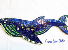 Custom Order LARGE Stained Glass Mosaic by PrancyBearStudio