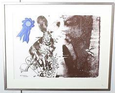 """CARL FREDRIK REUTERSWÄRD. Litografi, numrerad 108/200, """"Nära skjuter ingen Liljefors"""", signerad Reuterswärd. Art - Graphic – Auctionet"""