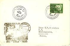 Invigningen av färjeleden Ystad-Swinoujscie 2,4,1964 Sidostämpel BALTYK MORZEM