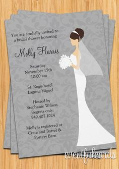 Damask Bridal Shower Invitation by eventfulcards on Etsy, $14.99