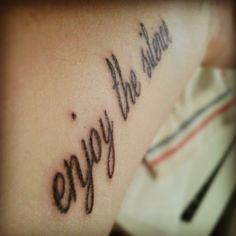 enjoy the silence tattoo - photo #17