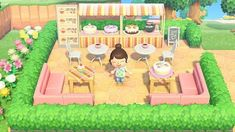 yet another bakery Animal Crossing 3ds, Animal Crossing Pattern, Animal Crossing Qr Codes Clothes, Motif Acnl, Ac New Leaf, Motifs Animal, Island Design, Animal Games, Animals And Pets