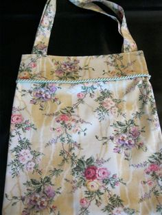 Floral Tote Bag by OffDaBolt on Etsy