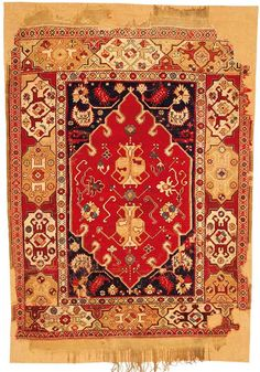 'Transylvanian' Double-niche rug, West Anatolia, second half 17th century, 123cm x 178cm, approx.