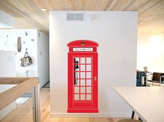 London phone wall decal home office decor by newpoint on Etsy