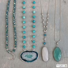 Make your own Verre Bleu Necklaces with Bead Gallery beads available at @MichaelsStores
