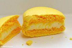 Zitronen Macarons mit Vanille Macarons au citron vanille Rezept