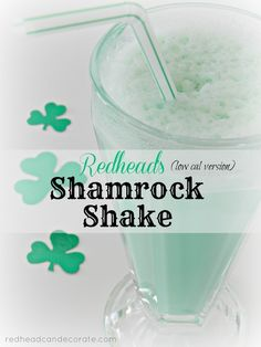 My version of a low calorie Shamrock Shake.