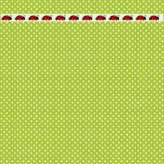 Free digital polka dot scrapbooking papers with ladybug border – ausdruckbares Geschenkpapier – freebie | MeinLilaPark – digital freebies
