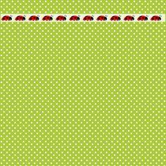 Free digital polka dot scrapbooking papers with ladybug border – ausdruckbares…